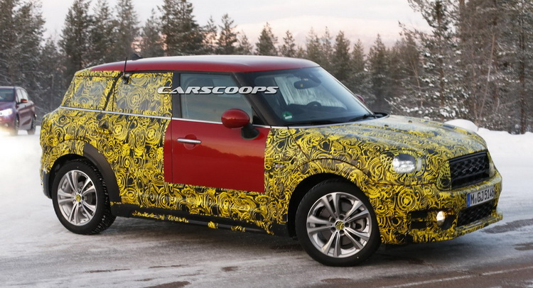 new mini countryman getting ready for big reveal will offer plug in hybrid. Black Bedroom Furniture Sets. Home Design Ideas