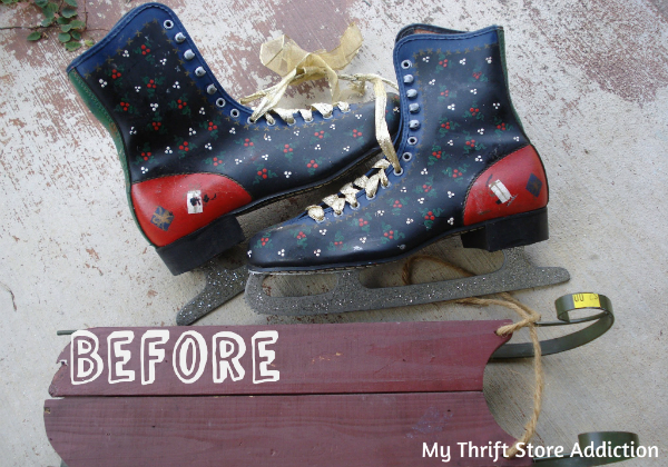 Upcycled ice skates