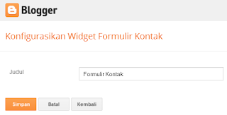 Memasang Contact Form Dari Blogger di Sidebar
