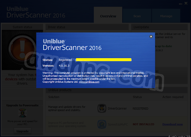 Download Uniblue DriverScanner 2016 4.0.16.3 Full Key Terbaru