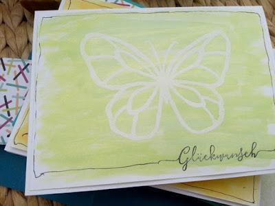 Schmetterling, Shimmerspray von Heidi Swapp, Geburtstag, SU-Stempel wunderbarer Tag