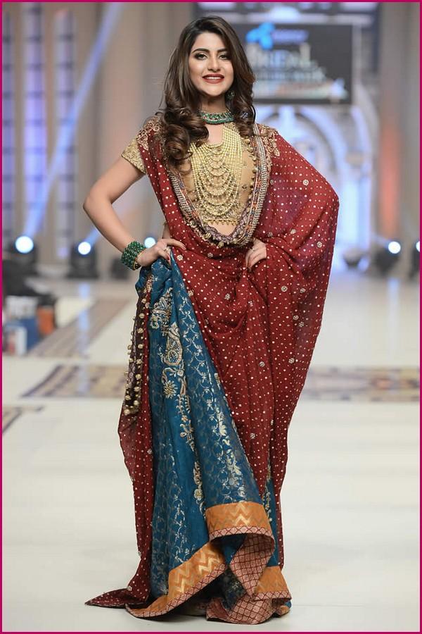 Pakistani Latest Sharara Designs For Wedding With Lehenga