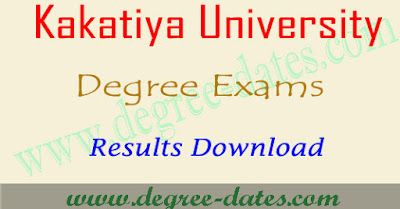 KU degree 2nd sem results 2018 kakatiya university ug result date