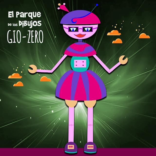 El robot GIO-ZERO de Planeta Pomelo, serie exclusiva de El Parque de los Dibujos