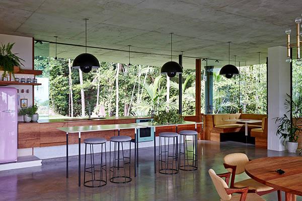Maison de verre en australie