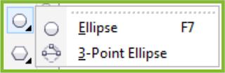 Ellipse Tool Flyout CorelDRAW X7