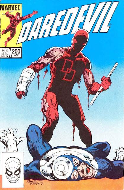 Daredevil v1 #200 marvel comic book cover art by John Byrne