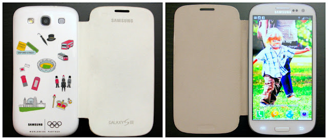 Samsung GALAXY S3 with London 2012 Olympics Limited Edition Flip Cover