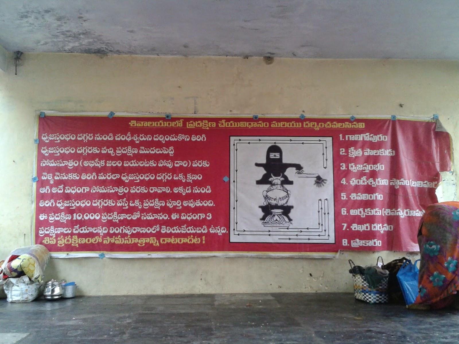 శివాలయ ప్రదక్షిణా విధానం-Shivalaya pradakshina vidhanam-Shiva temple