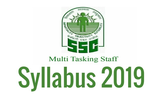 SSC Multi Tasking Staff Syllabus 2019