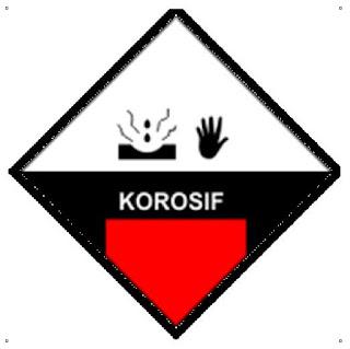 simbol b3 bahan korosif