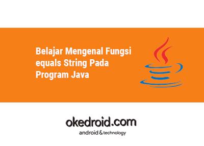 Contoh Pengertian arti Fungsi equals() dan .equalsIgnoreCase() di Program Java