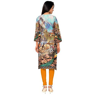Ranrasia woman face digital print kurti Cashback from fdmobiles