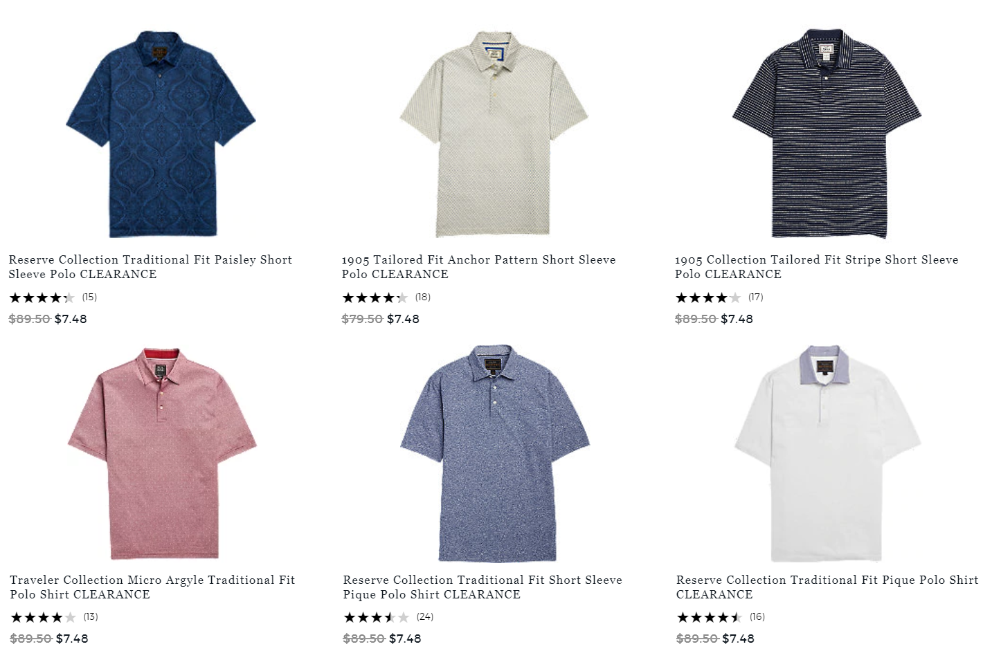 b1f52a179354 Jos. A. Bank Men's Polo Shirts Only $7.48 + Free Shipping. Sizes From Small  through 2XL and larger tall as well. Over 50 to choose from