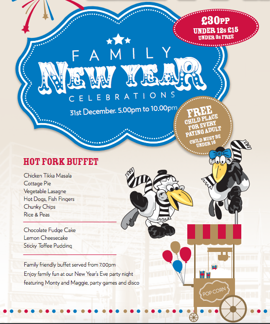 5 Ways to Celebrate New Years Eve in the North East with Kids - family party St James Park