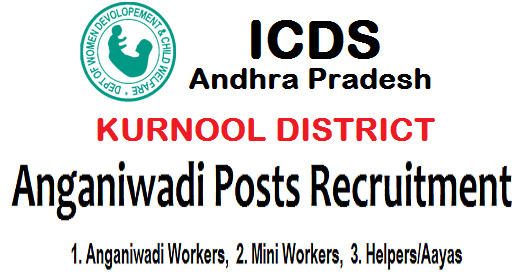 kurnool district anganwadi worker,helpers recruitment 2018,anganwadi workers(aww),mini anganwadi workers,anganwadi helpers(awhs)/aayas posts in kurrnool district,application form,last date
