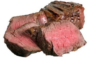 Trozos de carne de carne japonesa