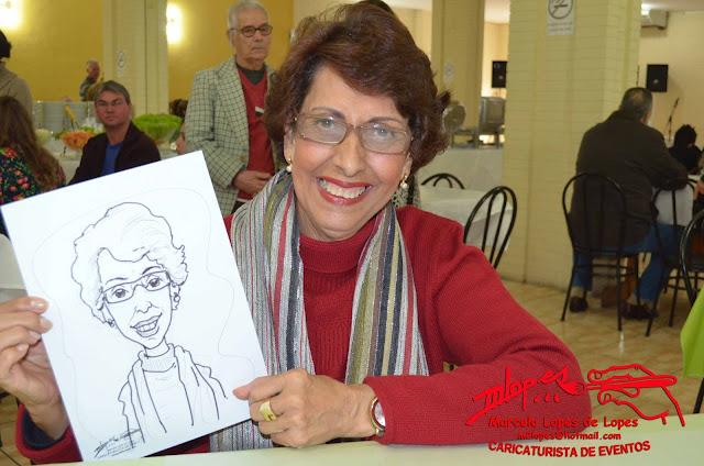 Almoços comemorativos com o Caricaturista Marcelo Lopes de Lopes