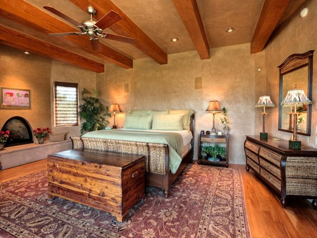 Photo of master bedroom with king size bed