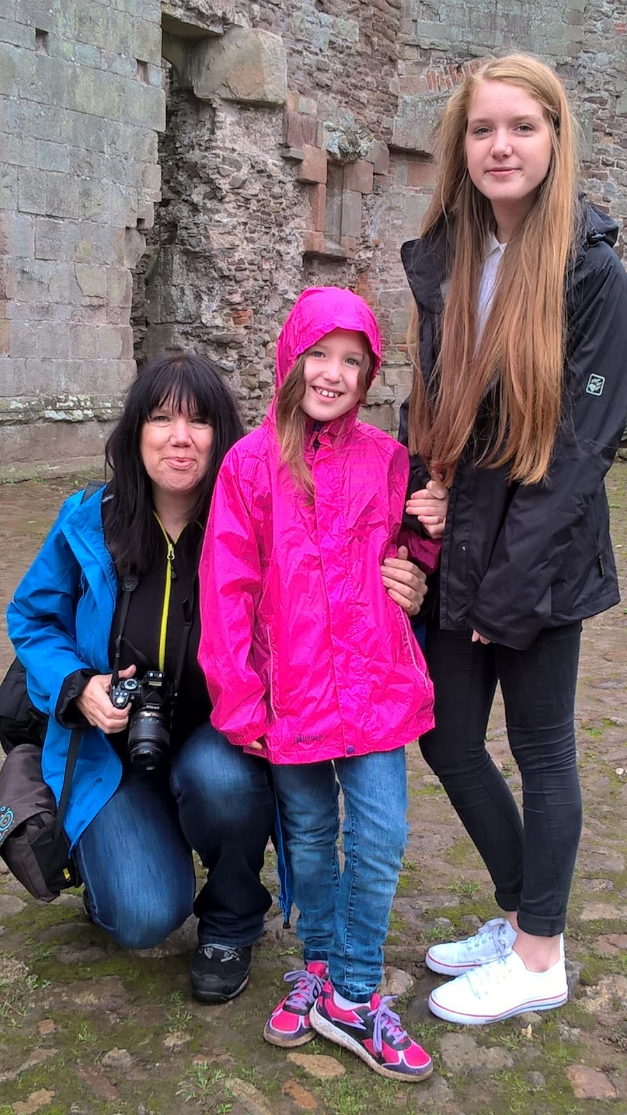 Sarah Brooks-Nayar, Georgia Jasper and Caitlin Hobbis at Raglan Castle