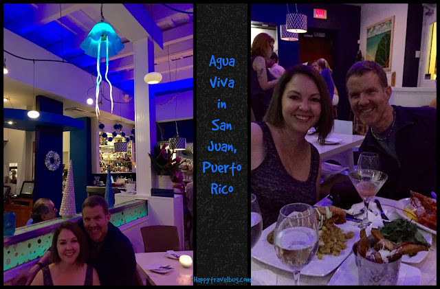 Agua Viva restaurant for our anniversary dinner in San Juan, Puerto Rico