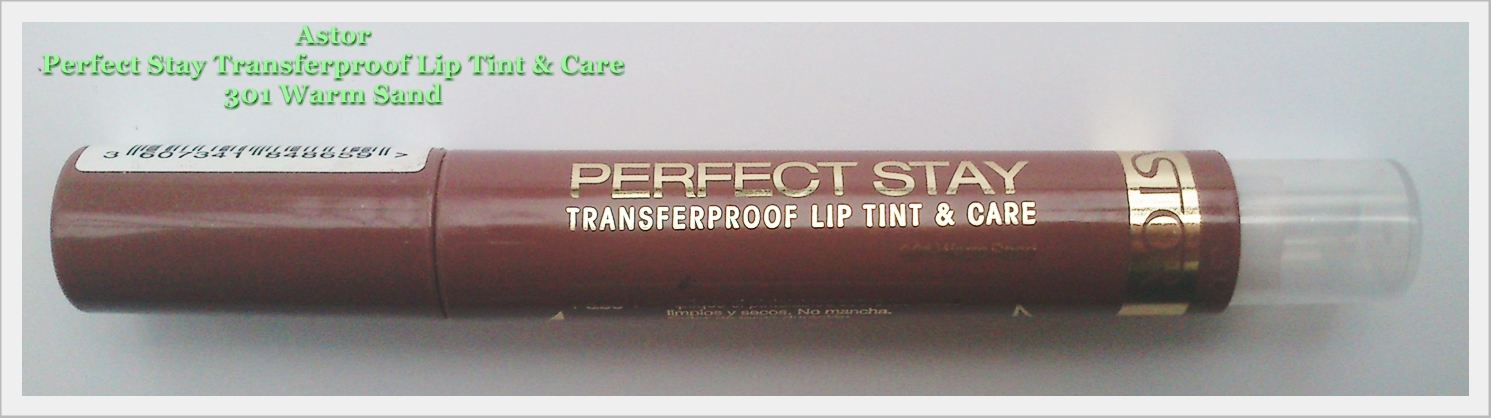 ASTOR - Perfect Stay ( transferproof lip tint & care ) 301 WARM SAND ( swatche )