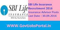 SBI Life Insurance Recruitment 2016