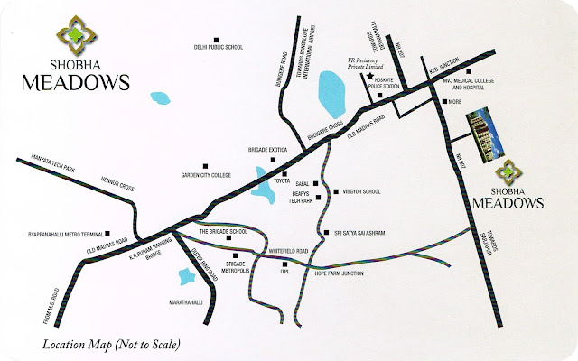Sobha Meadows location map