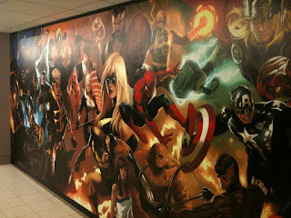 Marvel Comics offices mural
