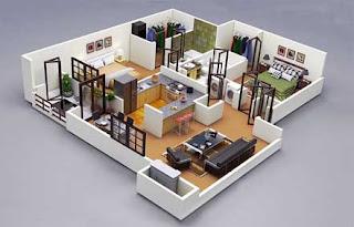 Gambar 3D Perencanaan Desain Bangunan