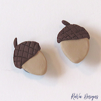 easy fall crafts oven bake clay magnet acorns