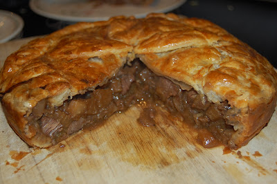 Living the Good Life: In the kitchen - Steak Pie and chips