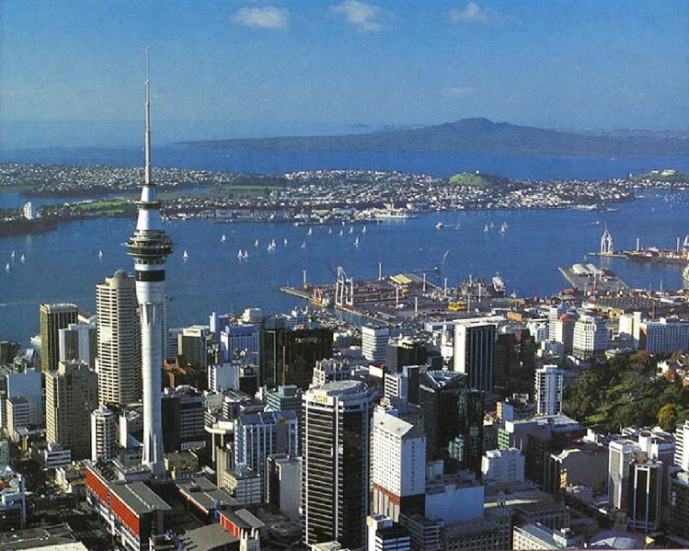 Auckland, maior cidade da Nova Zelândia