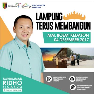 """Puncak Acara Trilomba """"Lampung Terus Membangun"""" Akan Digelar 4 Desember"""