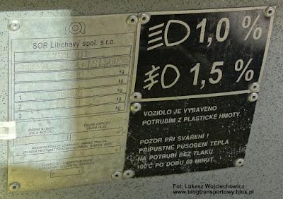 SOR-a EBN10,5, tabliczka znamionowa
