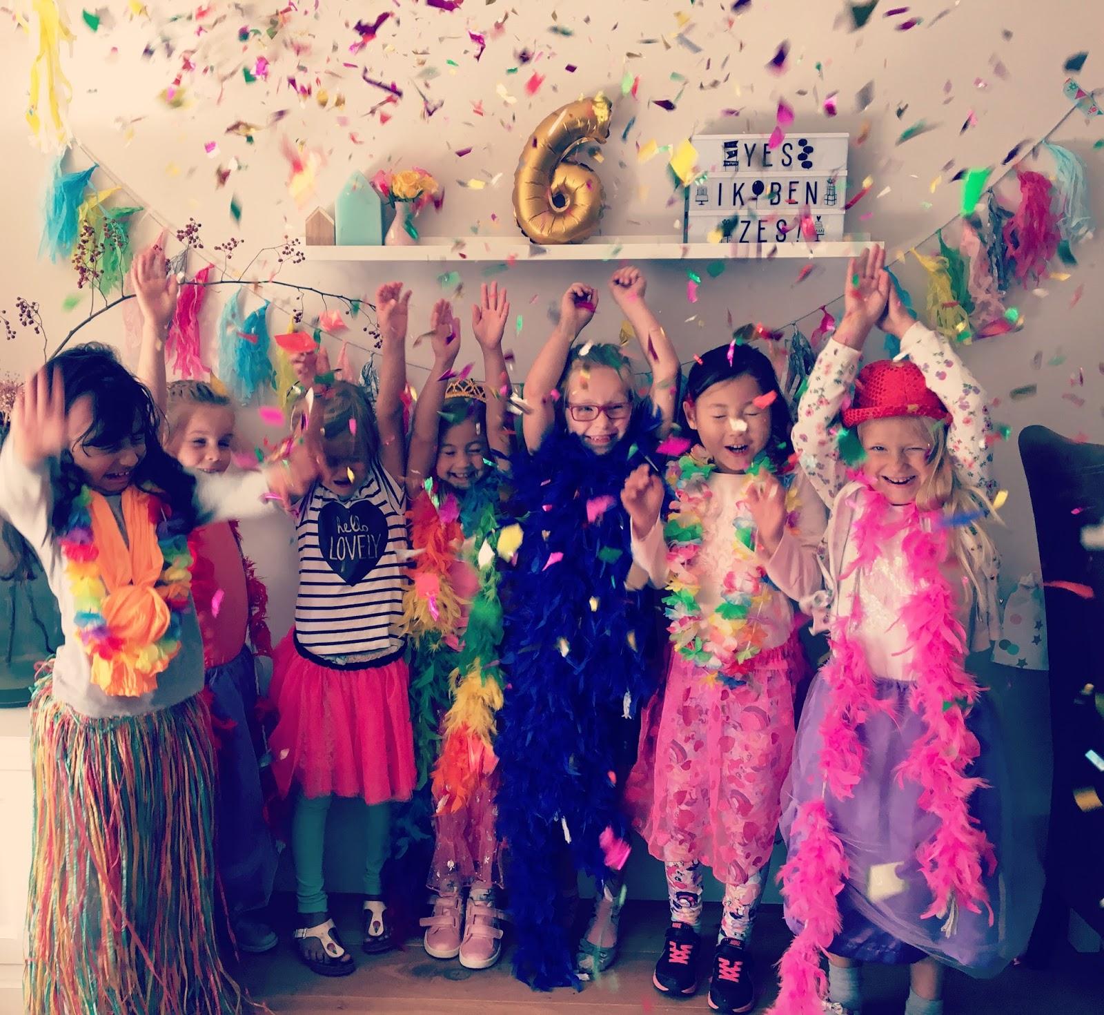 Kinderfeestje Br Thema Confetti Huize Lievelings