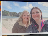 two woman taking selfie at beach