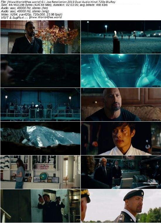 Screen Shoot of G.I. Joe Retaliation 2013 Dual Audio Hindi English 720p BluRay