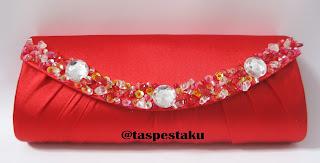 Handmade Tas Pesta Mewah Cantik Merah Harga Grosir