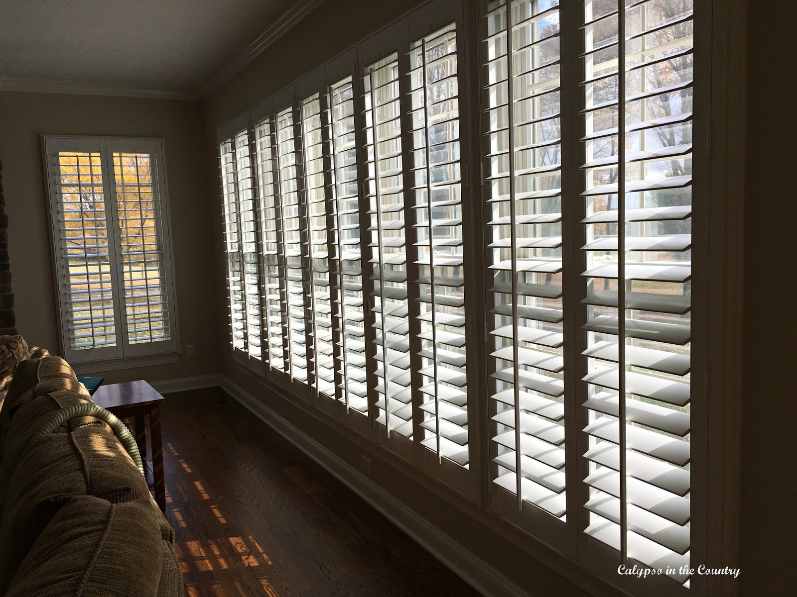 Plantation Shutters on Wall of Windows