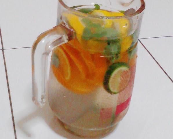 Experiment Buat Air Detox Buah Fruit Infused Water