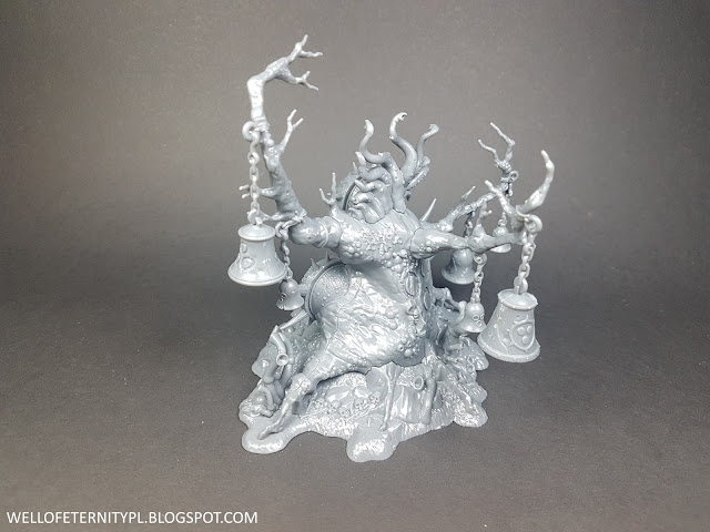 warhammer age of sigmar chaos nurgle feculent gnarlmaw model size comparision