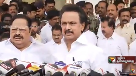 MK Stalin Press Meet about the Resolution Passed | CM Palaniswami Statement Over TN Bus Strike