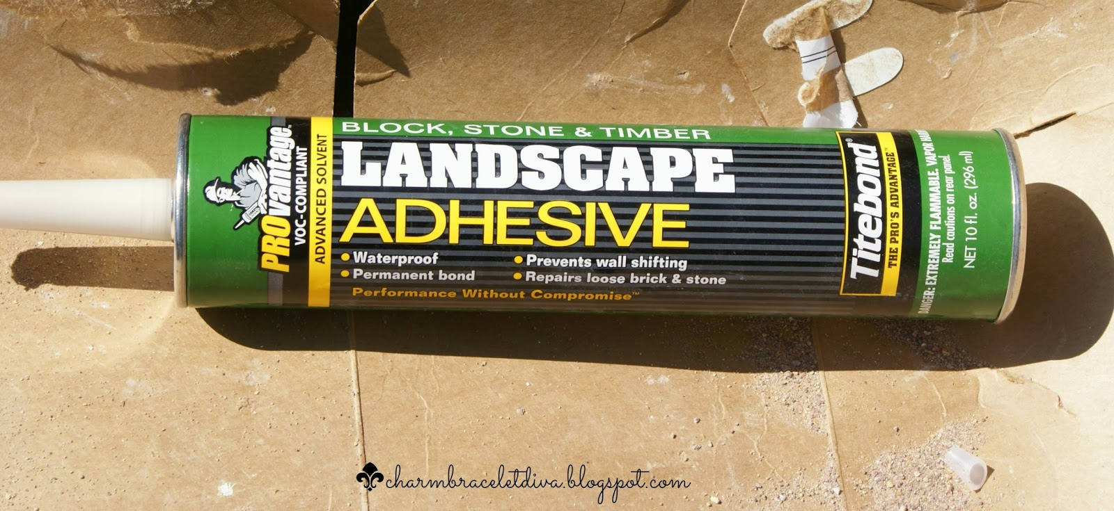 tube of landscape adhesive