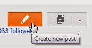Blogger create new post pencil icon