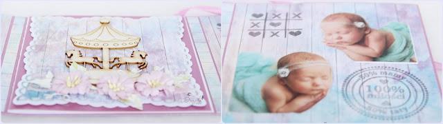 exploding box, kartka składak, dla dziecka, dla dziewczynki, z okazji narodzin, na chrzest, na urodziny, album dla dziewczynki, prezent na chrzest, frozen, kraina lodu, skrzynia skarbów, dla bliźniaczek