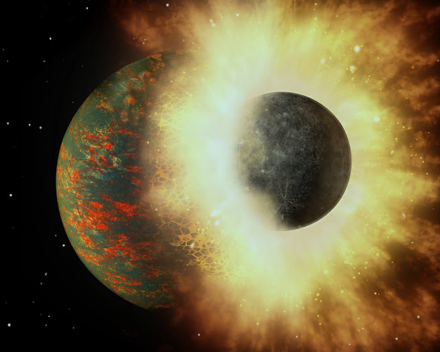 Earth's carbon points to planetary smashup