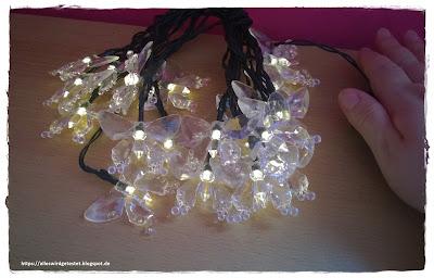 Solar Lichterkette mit Schmetterlingen