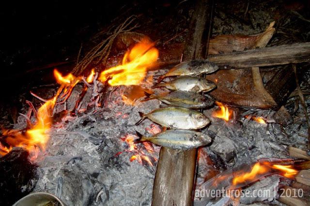 pulau bukit batam, bakar ikan