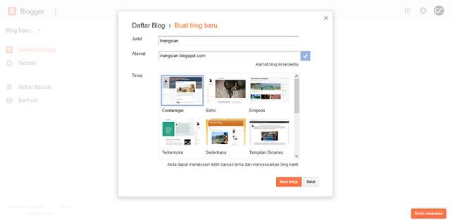 Cara terbaru membuat blog di blogspot (blogger)
